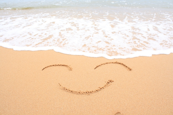 Smiley on the sand